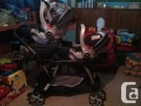 GRACO dual sit/stand stroller in exceptional fresh