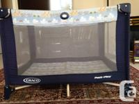 Baby Crib, matress  and baby Graco play pin in very