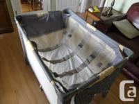 This playpen is in mint condition, including the infant