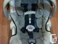 This infant car seat comes with a Jolly Jumper Arctic