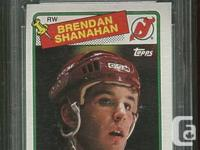 Graded Brendan Shanahan Rookie Card. 88/89 Topps #122.