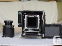 This is a 60mmX80mm film size view camera with front