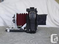 This camera has front perspective movements only which