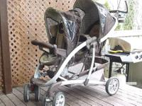 Double Grako stroller, plus an infant car seat to match
