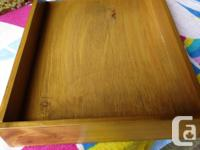 THIS ALL WOOD OFFICE TRAY IS 10 3/4 INCHES WIDE, 13