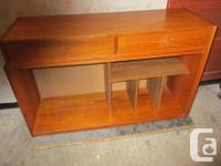 THIS TEAK PIECE IS IN TWO PARTS. THE BASE UNIT IS 46