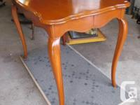 THIS WALNUT TABLE IS 40 INCHES LONG, 30 INCHES HIGH AND
