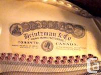 Canadian made instrument. Ivory and ebony keys in good