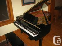 "G3 series baby grand piano (63"" long), bought new in"