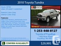 2010 Toyota Tundra  Double Cab Mileage: 23522 This
