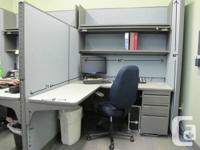 Two-cubicle workstation for sale. Each includes an