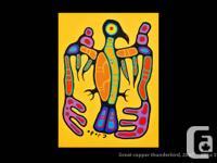 'Great Copper Thunderbird', original Ojibwa art, by