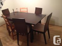 Very beautiful dark brown customized expandable dinning