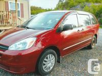 Make Toyota Model Sienna Year 2004 Colour RED kms