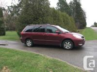 Make Toyota Model Sienna Year 2004 Colour Maroon kms
