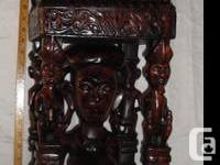 Exquisite Pair of Male and Female Tribal Hand Carved