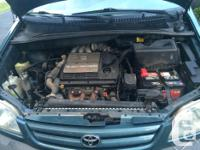 Make Toyota Model Sienna Year 2002 Colour blue kms