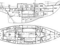 32' Douglas 3/4 full keeled sailboat Propane system
