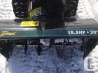 "I have a 10.5 HP 30"" Yardworks Snowblower for sale. New"