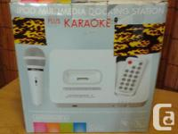 THIS WHITE PORTABLE KARAOKE SYSTEM ,IS MADE FOR YOUR I, used for sale  British Columbia