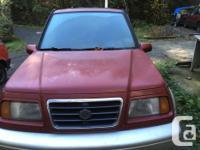 Make Suzuki Model Sidekick Year 1997 Colour Red and