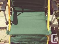 Foldable carry chair that you can set down and watch