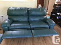 2 Green reclining sofas for sale (It comes with 2