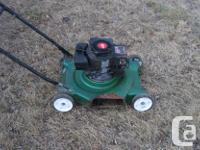 3.5 hp Tecumseh engine. Carb and tank cleaned. Oil