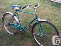 green CCM Imperial Mark IV cruiser bike, super rare