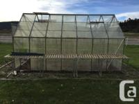 14x8 greenhouse, good condition, with just a few broken