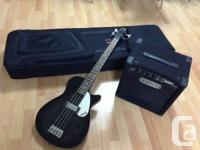 Almost brand new Gretsch bass guitar, fender amplifier