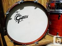 Vintage Maple shell Gretsch drum kit. Purchased new in