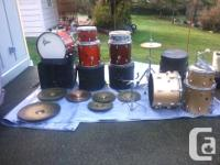 Gretsch professional vintage drum set- wood vineer