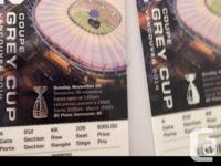 GREY CUP tickets!!! Top seating for the game! Part 202,