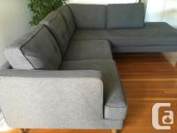 """- chaise (84"""" L x 37"""" W) - right hand arm section (60"""""""