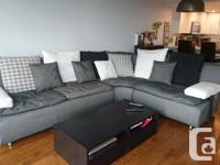 GREY SECTIONAL SOFA comes with chaise lounger (shown in