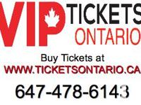 Great Tickets To All TORONTO as well as Kingston