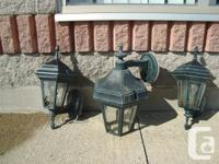 Set of 3 Matching Outside Train Lighting $70.00 for all
