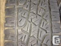 Set of 4 Pirelli Arachnid ATR tires 265/70R17. Tires