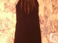 1. Italian fine wool black dress, with bronze steel