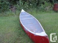 Its an old Grohman canoe with the seats out of it but I