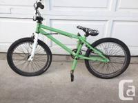 Like new.  I bought this bike for $400 and have hardly