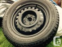 235/60 R18 107T XL x4 Winter tires on rims only used a