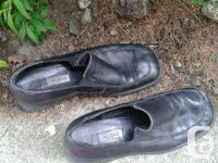 Aldo black slip on s leather as New size 8 ...14.00