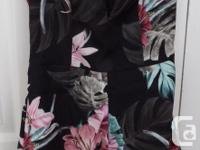 "Olinda Romper, Black, ""Colourful Forest"" Tropical"