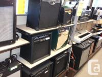 Large variety of guitar amplifiers. We have combo,