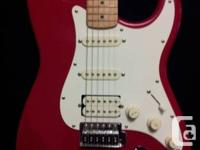 Selling my Fender Squier Red in mint condition. Used a