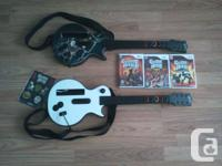 Guitar Hero bundle for Wii for sale. Includes: -2
