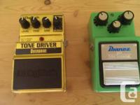 I have 1 guitar pedal available. Since I require the