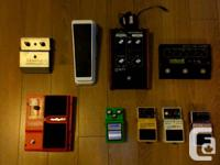 Hi All,  Selling the following guitar pedals.  Ibanez
